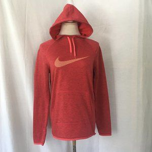 Nike Dry-Fit Red Heather Hooded Sweatshirt Size S